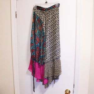 Dresses & Skirts - 🆕 NWOT Colorful Hand-made Wrap Maxi Skirt   OS